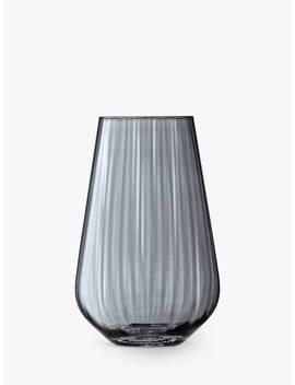 Lsa International Lantern Vase, Zinc Lustre, H28cm by Lsa International