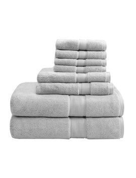 Madison Park Signature 8 Piece 100 Percents Cotton Bath Towel Set & Reviews by Madison Park Signature