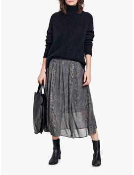 Hush Marina Snake Print Skirt, Grey by Hush