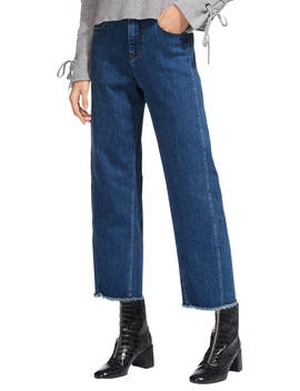 Whistles High Waist Barrel Leg Jeans, Dark Denim by Whistles