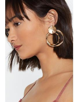Here's The Twist Circle Earrings by Nasty Gal