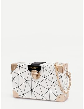 Push Lock Detail Chain Bag by Romwe