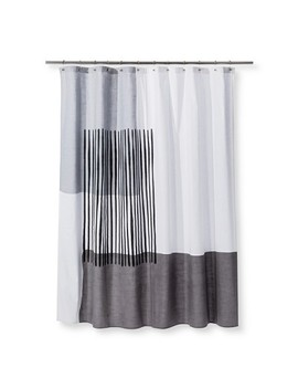 Woven Block Placement Printed Shower Curtain Gray   Project 62™ by Shop This Collection