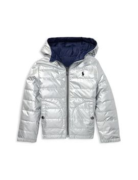 Boys' Metallic Quilted Jacket   Little Kid by Polo Ralph Lauren