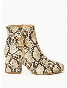 Wide Fit Multi Coloured 'amelie' Ring Zip Ankle Boots by Dorothy Perkins