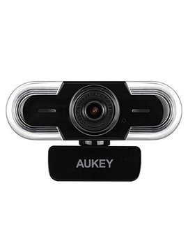 Aukey Webcam 2 K Hd Microphone, Auto Light Adjustment, Manual Focus, Usb Web Camera Video Chat, Recording Streaming, Compatible Windows, Mac Os Android by Aukey