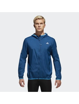 Own The Run Hooded Wind Jacket by Adidas