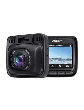 Aukey Dash Cam Full Hd 1080 P Car Camera 6 Lane 170° Wide Angle, Supercapacitor, Wdr Night Vision Dashboard Camera With G Sensor, Loop Recording And Dual Port Car Charger by Aukey