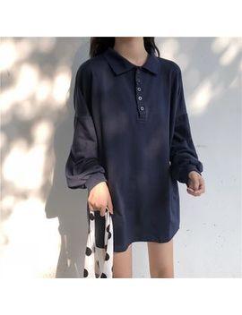 Yoja   Long Sleeve Mini Polo Shirt Dress by Yoja