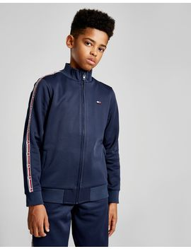 Tommy Hilfiger Tape Poly Track Top Junior by Tommy Hilfiger