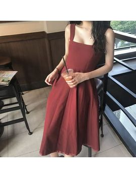 Ashlee   Strappy Plain A Line Dress by Ashlee