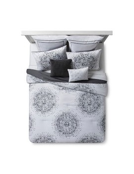 Gray Medallion Sunburst Comforter Set 8pc by Target