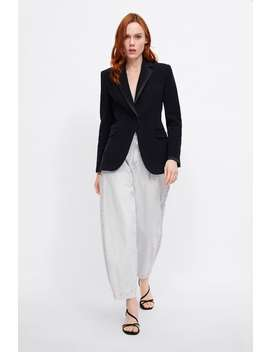 Blazer Mit Samt  Blazerdamen New Collection by Zara