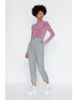 Dog Tooth Check Tapered Trouser by Nasty Gal