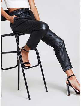 Frill Belted Waist Pants by Shein