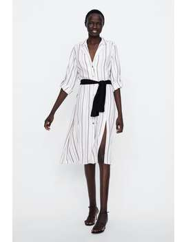 Belted Striped Tunic  View All Dresses Woman Sale by Zara