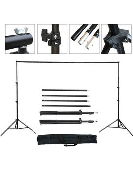 10ft Adjustable Backdrop Support Stand Photo Photography Background Crossbar Set 10 Ft by Kingos Shop