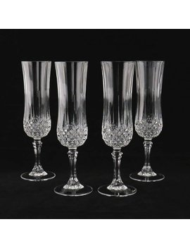 Crystal Champagne Flutes France Set Of Four Genuine Lead Crystal D'arques, Paris, In Original Box by Etsy