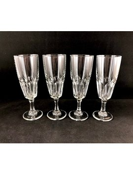 Arcoroc France Crystal Champagne Flutes   Set Of 4 by Etsy