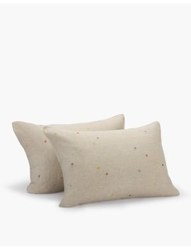 Coyuchi® Scattered Embroidered Linen Pillow Sham by Madewell