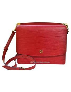 Alma Twinset Twist Leather Adjustable Strap Logo 2ways Like Bb Red Epi Cross Body Bag by Louis Vuitton