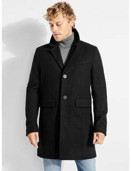 Button Front Trench Coat by Guess