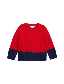 Logo Intarsia Pullover Sweater by Burberry