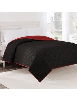 Reversible Twin Ebony/Red Coverlet by Unbranded
