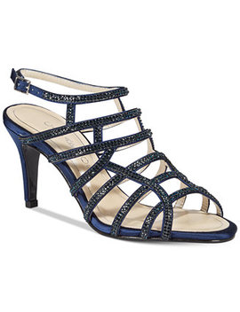 Harmonica Embellished Caged Evening Sandals by Caparros