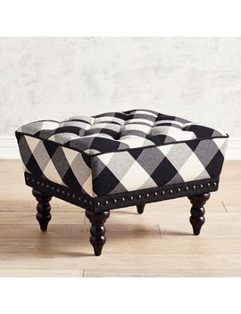Black Buffalo Check Ottoman by Chas Collection