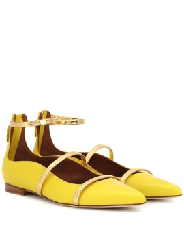 Robyn Flat Leather Ballet Flats by Malone Souliers