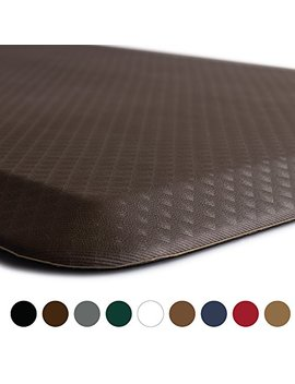 "Kangaroo Brands Original 3/4"" Anti Fatigue Comfort Standing Mat Kitchen Rug, Phthalate Free, Non Toxic, Waterproof, Ergonomically Engineered Floor Pad, Rugs For Office Stand Up Desk, 32x20 (Brown) by Kangaroo Brands"