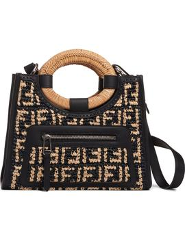 Small Runaway Woven Raffia Shopper by Fendi