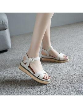 Megan   Cross Strap Platform Sandals by Megan