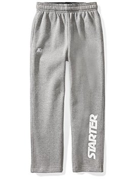 Starter Boys' Open Bottom Logo Sweatpants With Pockets, Amazon Exclusive by Starter