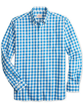 Brooks Brothers Men's Slim Fit Flannel Gingham Shirt by Brooks Brothers Red Fleece