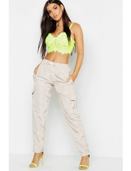 Cargo Pocket Shell Suit Jogger by Boohoo