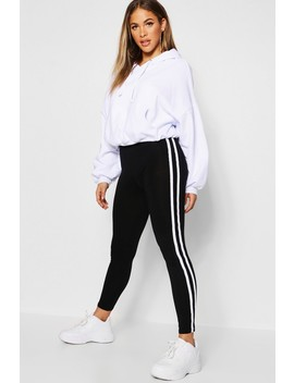 Double Side Stripe Legging by Boohoo