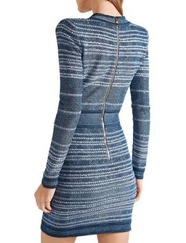 Jacquard Knit Mini Dress by Balmain