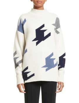 Houndstooth Cashmere Sweater by Victoria Beckham