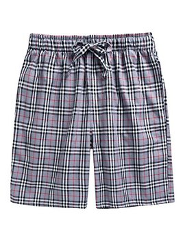 Tinfl 13 18+ Years Youth Boys Plaid Check Soft 100 Percents Cotton Sleep Lounge Shorts Pajama Pants by Tinfl