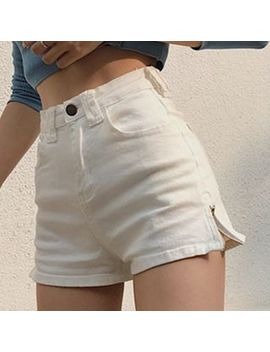 Yako   Slit Side Denim Shorts by Yako