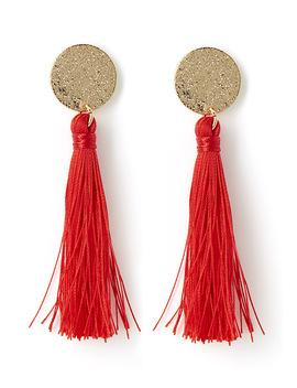 Coloured Tassel Earrings by Simons