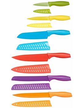 Amazon Basics 12 Piece Coloured Knife Set by Amazon Basics