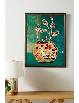 Poppies Vase Wall Art by Artfully Walls