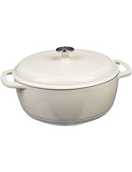 Amazon Basics Enameled Cast Iron Dutch Oven   7.5 Quart, White by Amazon Basics