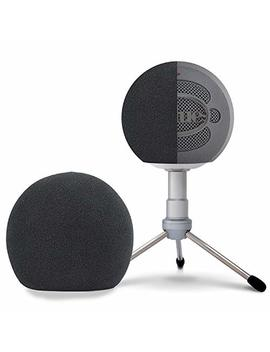 Blue Snowball Foam Windscreen   Professional Mic Foam Wind Cover Windshield Pop Filter For Recordings, Broadcasting, Singing By Sunmon by Sunmon