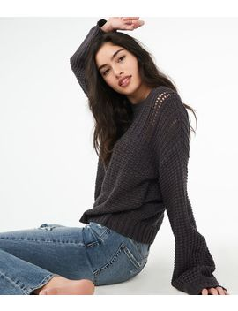Solid Pointelle Sweater by Aeropostale