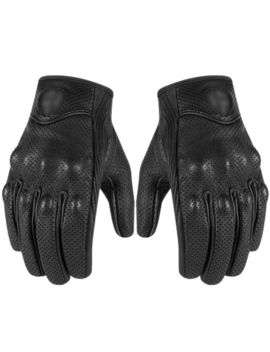 New Mens Short Motorcycle /Summer Leather Gloves With Knuckle Protection F21 by Unbranded