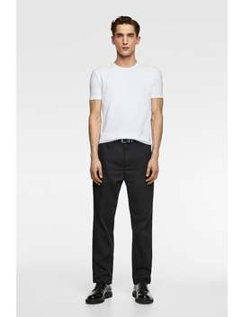 Camiseta BÁsica Slim Fit  Lisas Camisetas Hombre New Collection by Zara